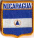 Nicaragua Embroidered Flag Patch, style 06.